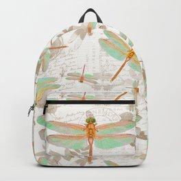 Dragonfly Botanical pattern Backpack