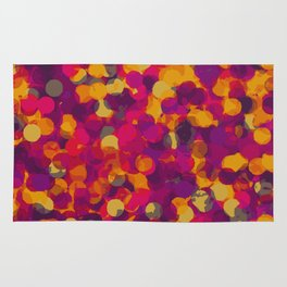 orange yellow pink and purple circle pattern abstract background Rug