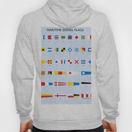 Maritime Signal Flags Poster Hoody