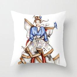 Artist Throw Pillow