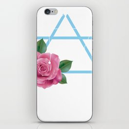 Libra Zodiac Flower Rose Air Element iPhone Skin
