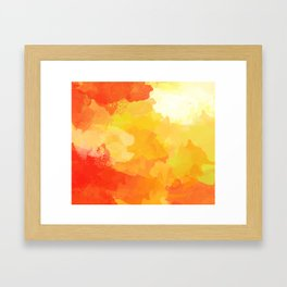 Colorful Abstract - red orange pattern Framed Art Print
