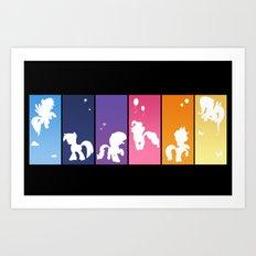 Rainbow Ponies Art Print