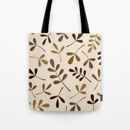 Assorted Leaf Silhouettes Gold Browns Cream Tote Bag
