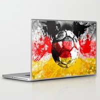 germany Laptop & iPad Skins featuring  football germany by seb mcnulty