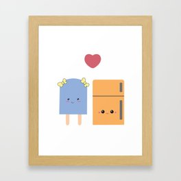 popsi and fridgie Framed Art Print