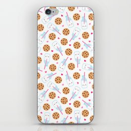 Happy Milk and Cookies Pattern iPhone Skin