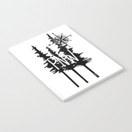 PNW Trees & Compass Notebook
