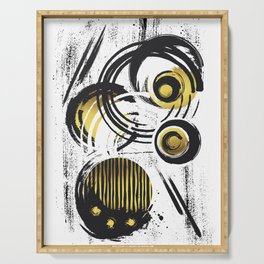 Abstract Painting No. 32 | gold  Serving Tray