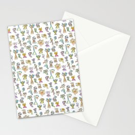 Scribbehead_Montage of Characters Stationery Cards