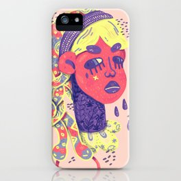 Angry medusa iPhone Case