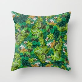 Moss Cluster Throw Pillow