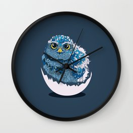 Low-poly Baby Owl Wall Clock