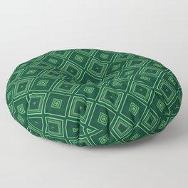 Emerald Green Diamond Pattern Floor Pillow