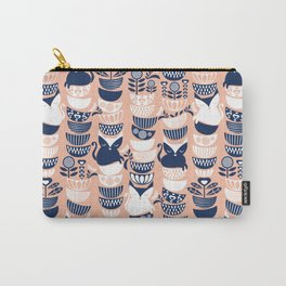 Swedish folk cats V // flesh background Carry-All Pouch