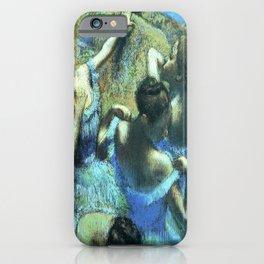 Blue Dancers by Edgar Degas iPhone Case
