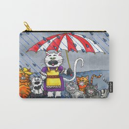 Cats on a Rainy Day Carry-All Pouch