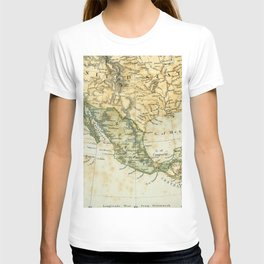 North America Vintage Encyclopedia Map T-shirt
