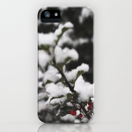 Winter Holly iPhone Case