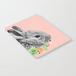 Floral Rabbit Notebook