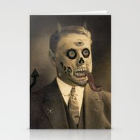 satan Stationery Cards featuring Satan by Beery Method