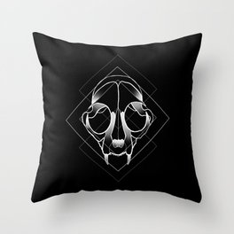 Catskull Throw Pillow