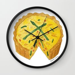 Q is for Quiche Wall Clock