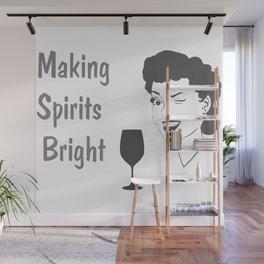 Making Spirits Bright Holiday Wall Mural