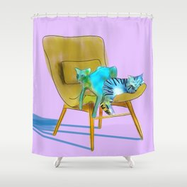 animals in chairs #12 Cats Shower Curtain