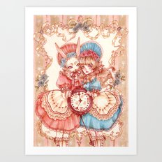 Alice and the Hare Lady Art Print
