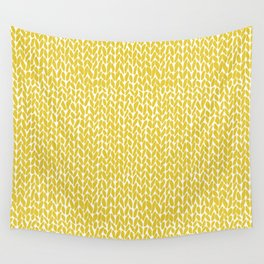 Hand Knit Yellow Wall Tapestry