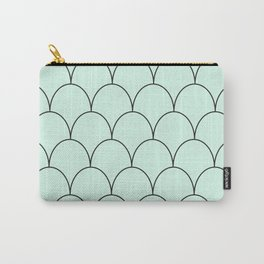 mint & black half circles Carry-All Pouch