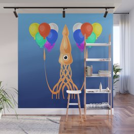 Squid Party Wall Mural