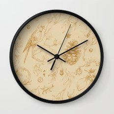 Nature pattern Wall Clock