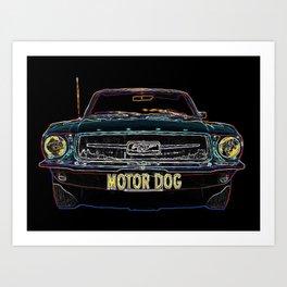 Motor Dog Mustang Art Print