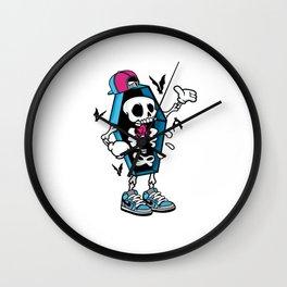 Comic - Coffin Swag Skull - bright Wall Clock