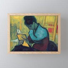 The Novel Reader by Vincent van Gogh, 1888 Framed Mini Art Print
