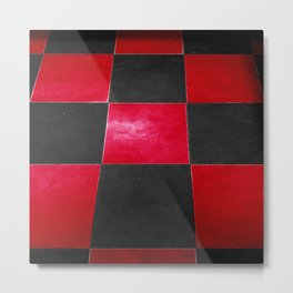 Red and Black Checkers Metal Print