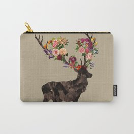 Spring Itself Deer Flower Floral Tshirt Floral Print Gift Carry-All Pouch