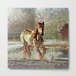 Toony Horse Metal Print