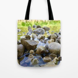 Stuck Between a Rock and a Wet Place Tote Bag