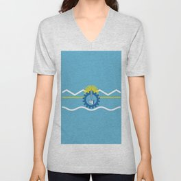 flag of Chubut Unisex V-Neck