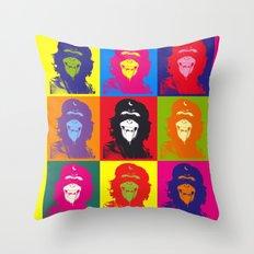 Chimp Guevara 9 Times T-shirt Canvas Print Throw Pillow