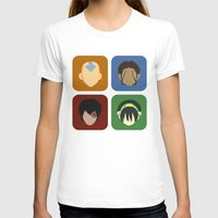 aang T-shirts featuring Avatar by Raquel Segal