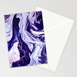 Blue, Pink, White and Purple Marble Stationery Cards