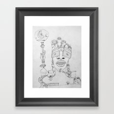 Face Balloon Framed Art Print