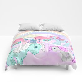 vintage g1 my little pony tribute collage Comforters