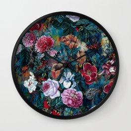 Dance of flowers Wall Clock