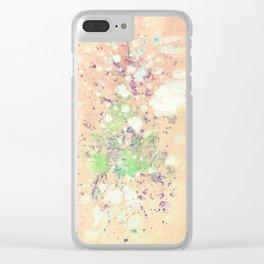 Peach Tie-Dye Clear iPhone Case