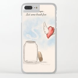 Some hearts live in cages...But some break free Clear iPhone Case